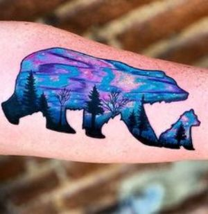 tatuaje de osos mujer