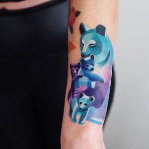 tatuaje de osos polares
