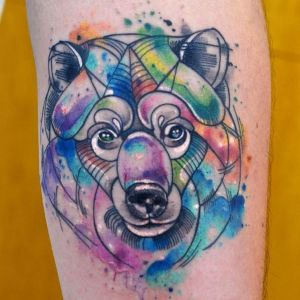tatuaje oso javi wolf