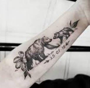tatuajes de osos en el brazo