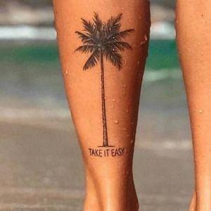 tatuaje de palmera con mensaje