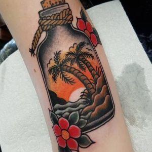 tatuaje de palmeras original