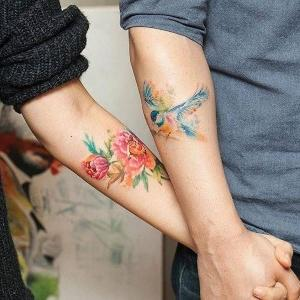 delicados tatuajes para parejas