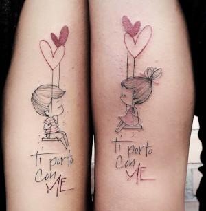 imagen de tatuaje de pareja