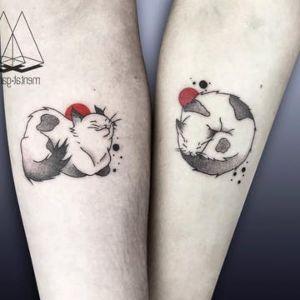 tatuaje de pareja gato