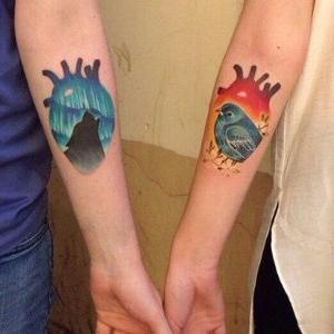 tatuaje para pareja original