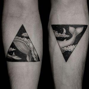 tatuaje pareja ballena