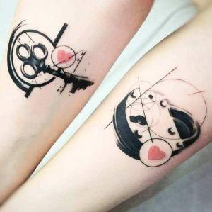 tatuaje pareja llave cerradura
