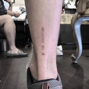 tatuaje pequeño de frases