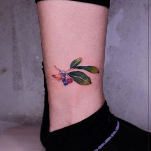 tatu pequeño pierna mujer