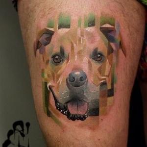 perro tatuado