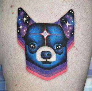 tatuaje de chiuawa