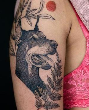 tatuaje de doberman