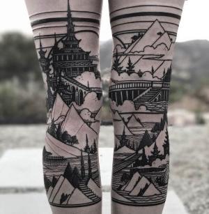 original tatuaje en las piernas