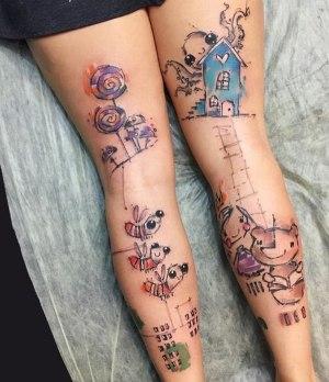 tatuajes en las dos piernas