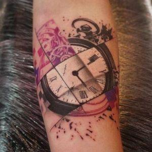 tatuaje original de relojes