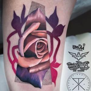 tatuaje original de rosa para hombre y mujer