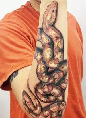 tatuaje de serpiente en el brazo