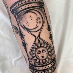 tatuaje sol y luna original