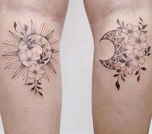 tatuajes lindos sol y luna