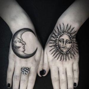 tatuajes sol y luna hermosos