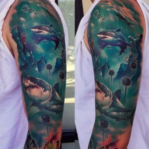 los mejores tatuajes de tiburones