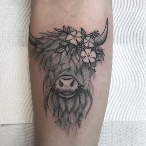 tatuaje lindo de toro