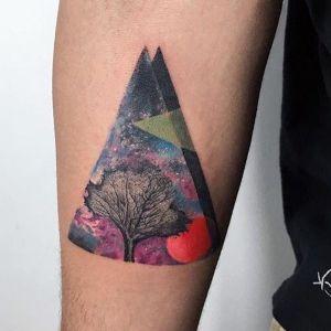 tatuaje para hombre de triangulo